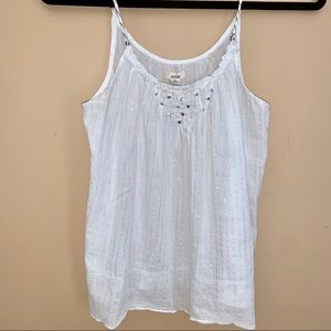 Sliver striped Aerie Sleep Tank